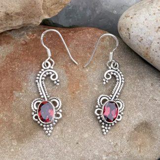 Enchanting Garnet Sterling Earrings