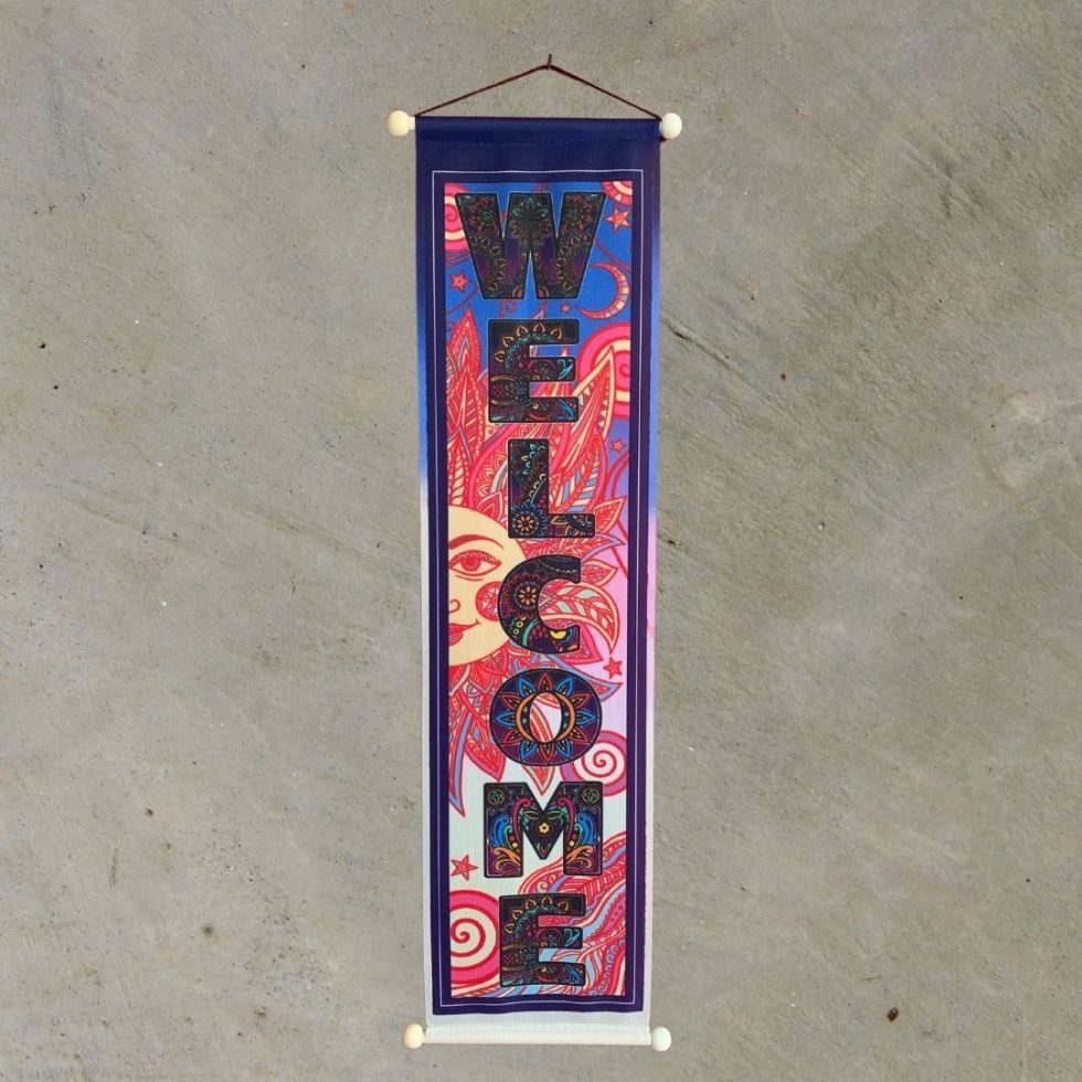 Welcome Sun & Swirls Banner