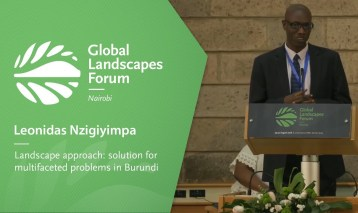 Leonidas Nzigiyimpa – Landscape approach solution for multifaceted problems in Burundi