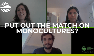 Put out the match on monocultures?