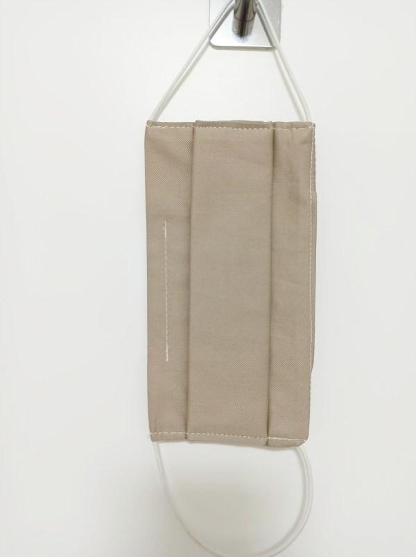 masque barrière en tissu beige