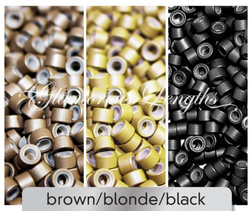 1000 x black micro rings (5mm)