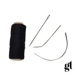 weft thread and needle set (black)