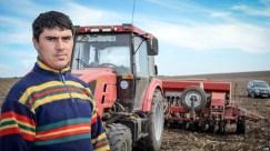 Tânărul mecanizator Ciprian MUSTEAȚĂ seamănă grâul de toamnă. © Liuba Bulgaru/GD