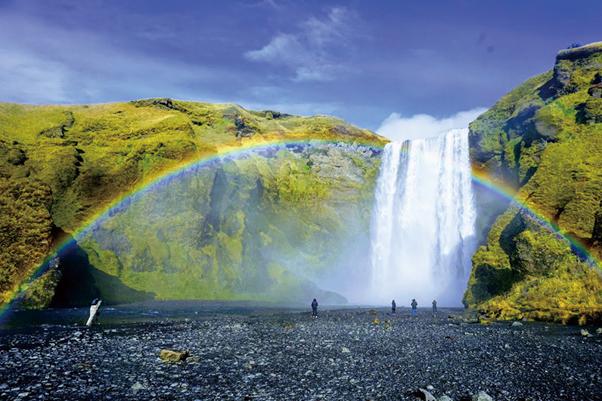 冰島 彩虹瀑布