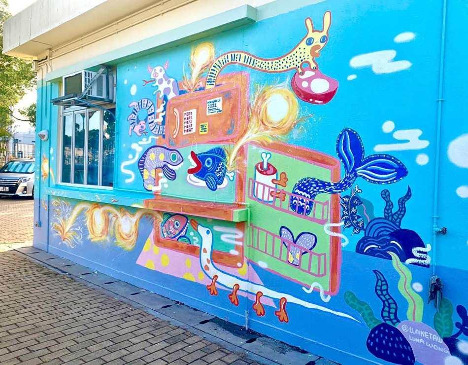 【香港好去處】17個香港壁畫打卡點─香港壁畫村、壁畫街、街頭藝術 - 香港街頭藝術──西貢大型街頭藝術節(by HK walls)
