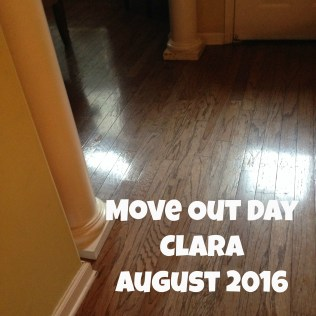 Clara Move Out Day
