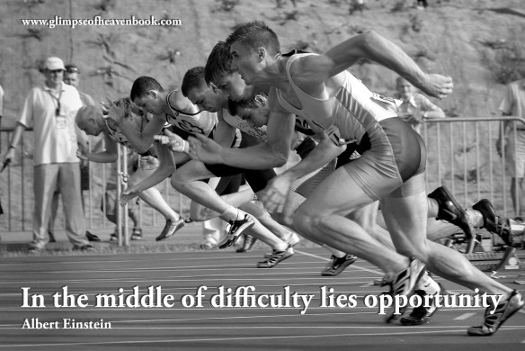 In the middle of difficulty lies opportunity. Albert Einstein