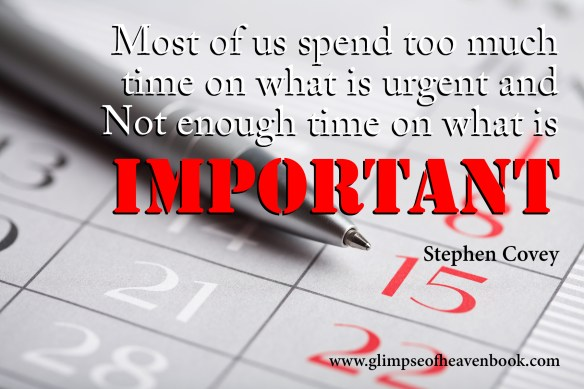 Most of us spend too much time on what is urgent and Not enough time on what is Important