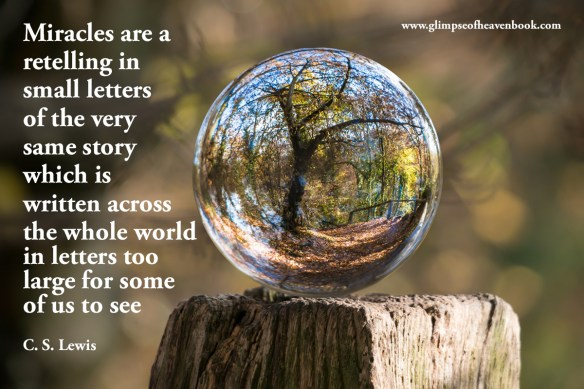 Miracles are a retelling in small letters of the very same story which is written across the whole world in letters too large for some of us to see C. S. Lewis