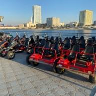Go-karts and cycles at Cafe at Al Marsa Ajman