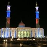 Dhaid Mosque duting Sharjah Light Festival