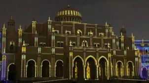 Sharjah Municipality Building during Sharjah Light Festival