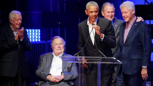 Former US presidents gather for hurricanes fundraiser via Johnny_W94