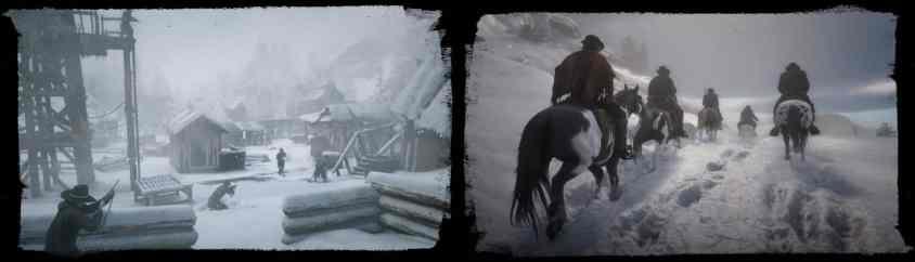 Red Dead 2 snow landscape