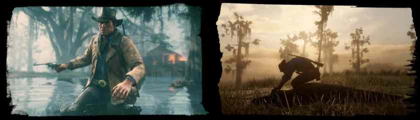 Red Dead 2 swamp area