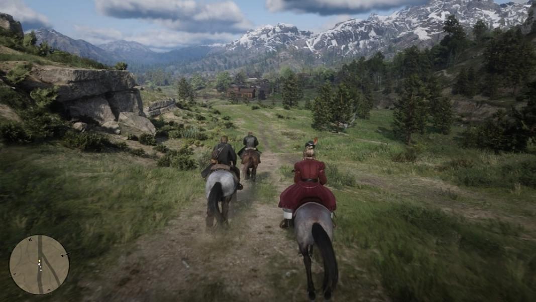 RDR2 horse riding