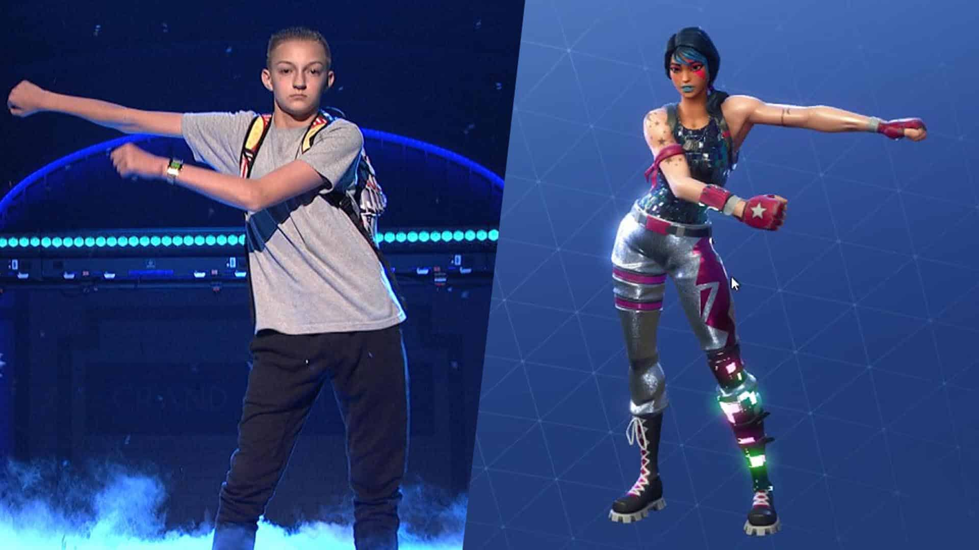 01b2200a500e ... Over Floss Dance in Fortnite. Backpack Kid Suing Epic