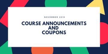 November 2019 Course Announcements