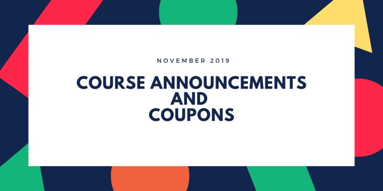 November 2019 Course Announcements