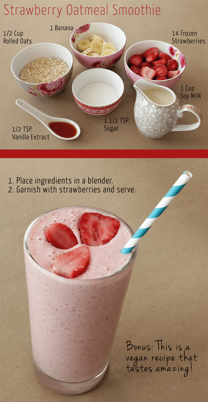 Strawberry-Oatmeal-Smoothie
