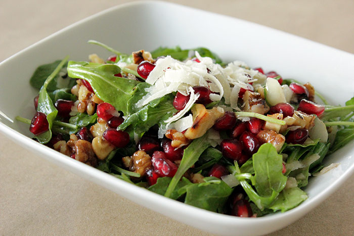 pomegrante-and-argula-salad-with-dressing