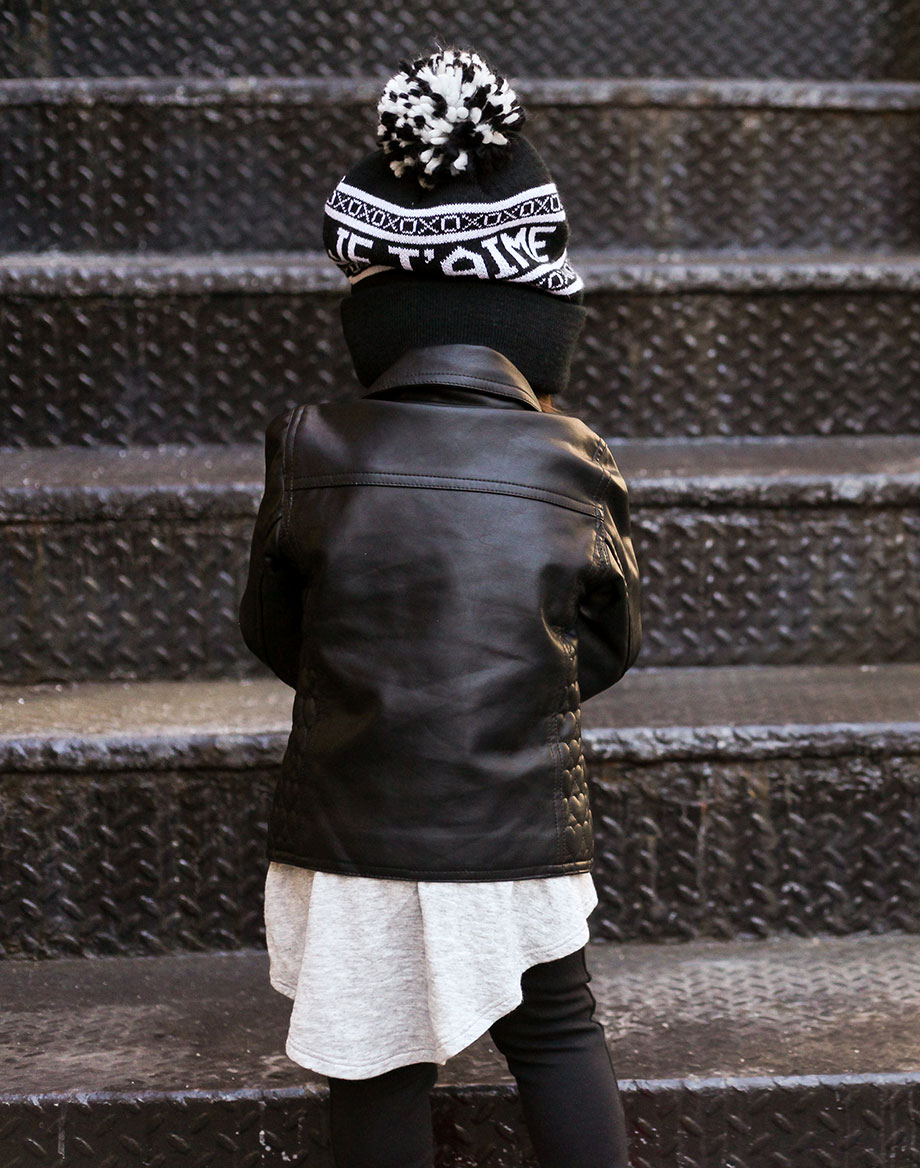 Mother daughter leather street style by Glitter and Bubbles.
