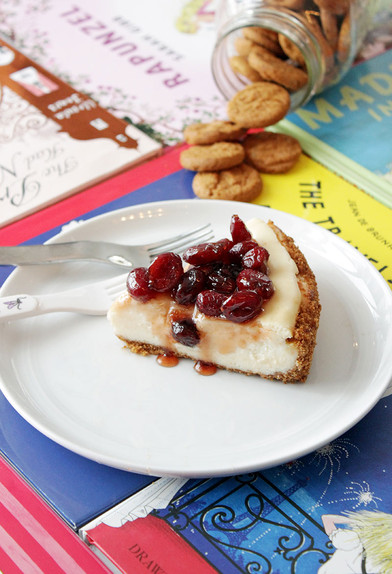 A recipe for cheesecake from Cooking Light Magazine made by Glitter and Bubbles.