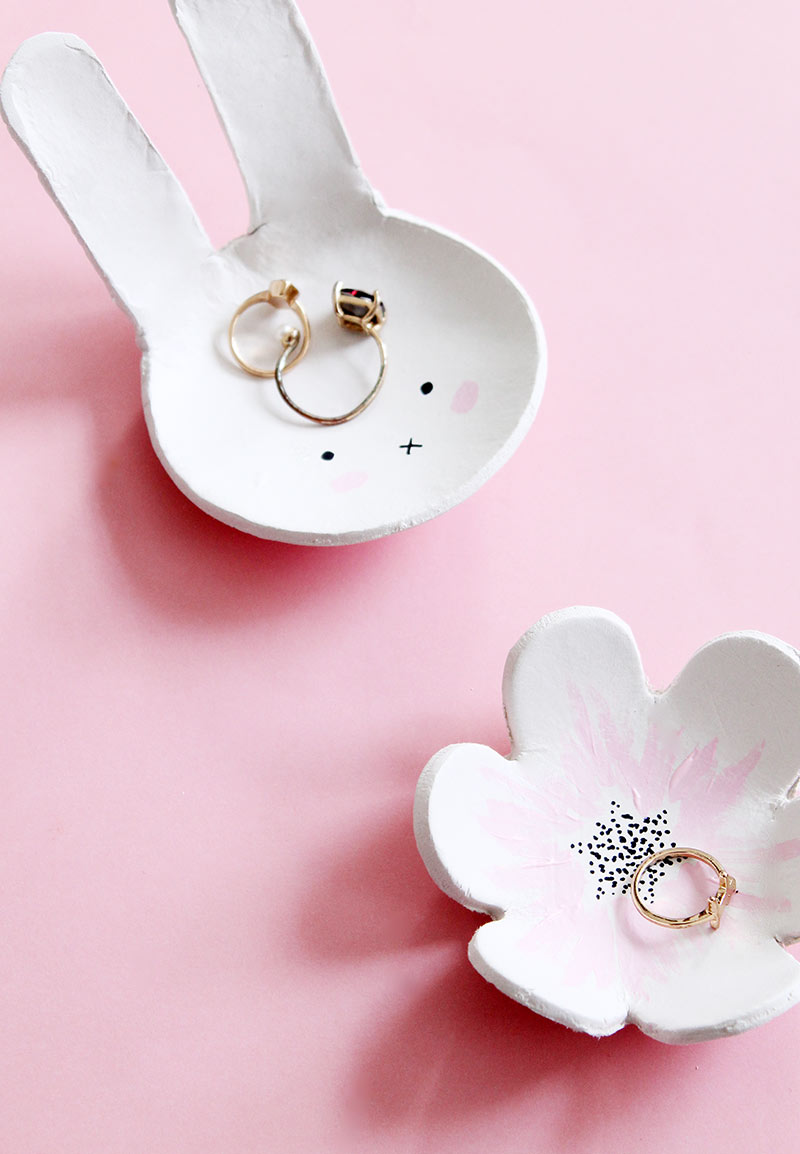 A DIY for a Spring Jewelry Dish by Glitter and Bubbles.