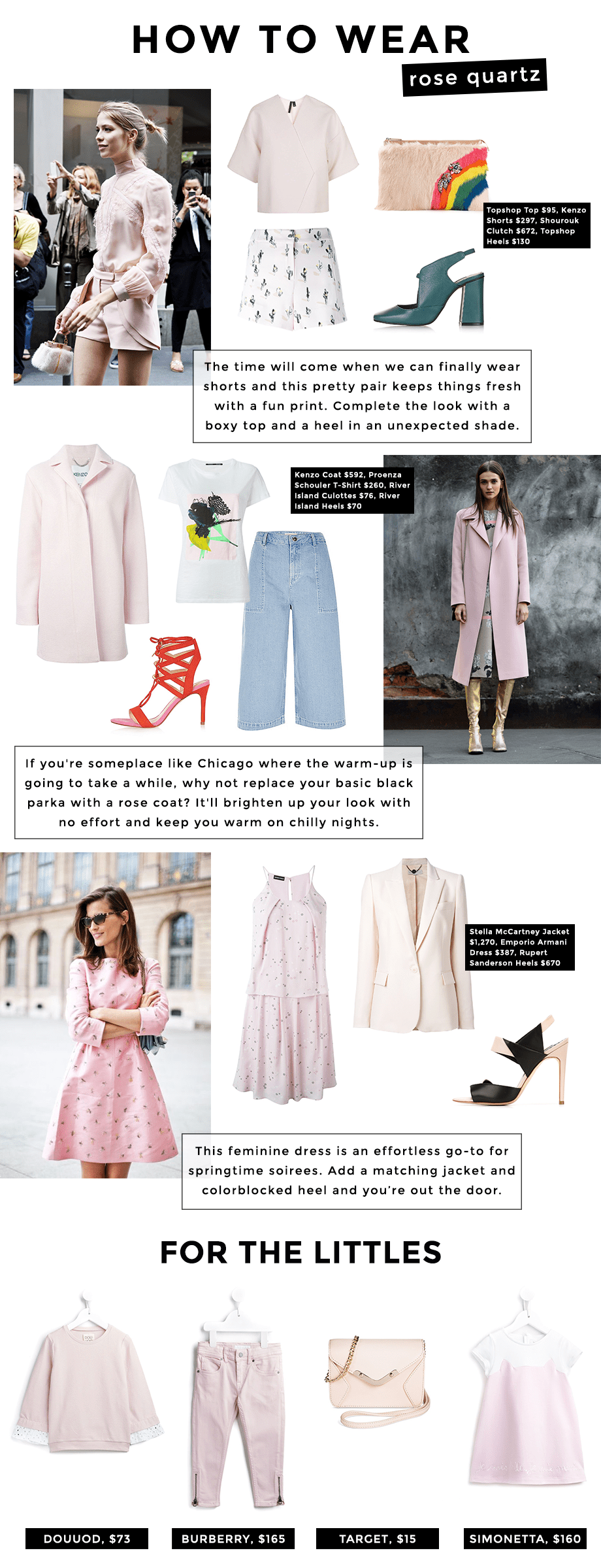 How to Wear Pantone's Color of the Year, Rose Quartz, by Glitter and Bubbles.