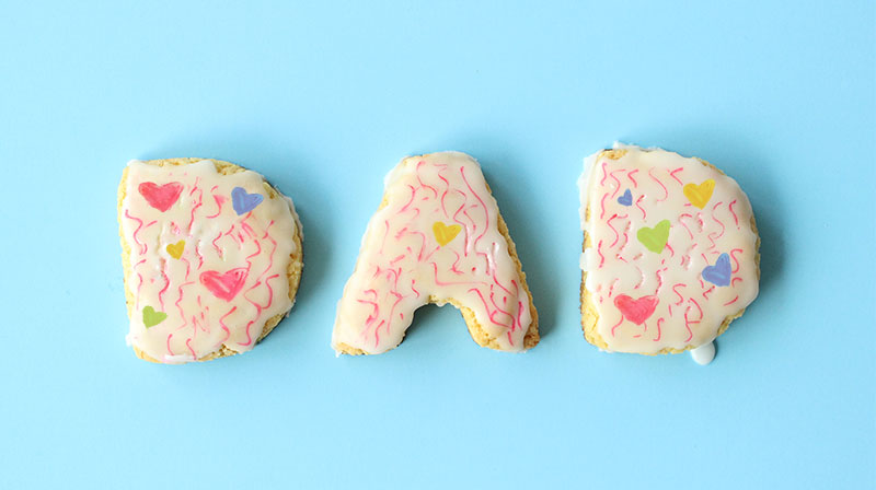 This is a Father's Day recipe for Lemon Cookies by Glitter and Bubbles.