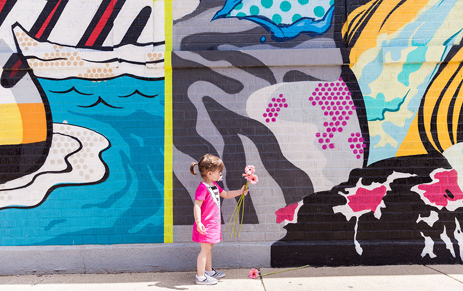 This is a mini and me mother daughter fashion post that features Corri & Zelda's street style in Chicago.
