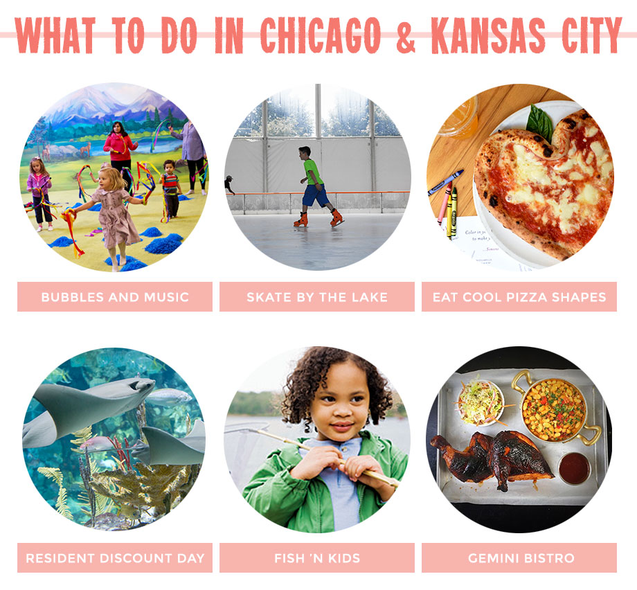 This post on Glitter and Bubbles features kids activities in Chicago and Kansas City.