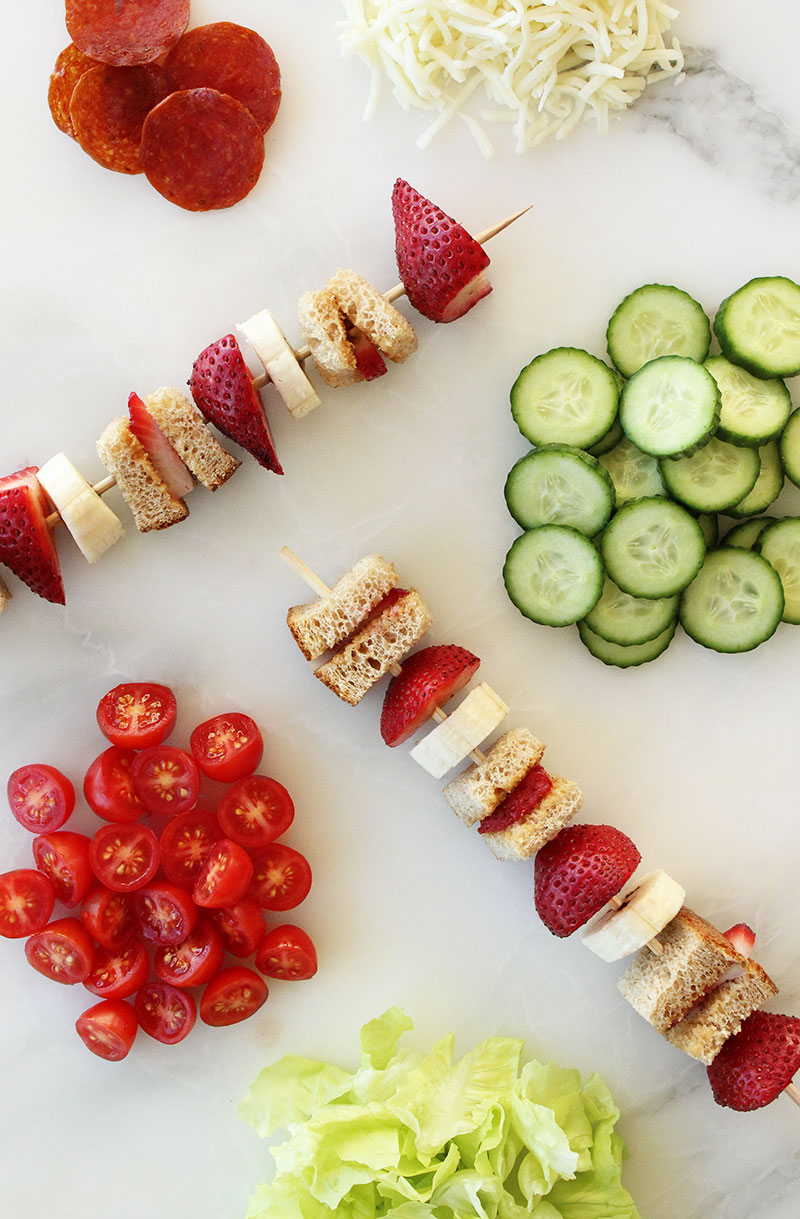 How to Make Back to School Kebabs Three Ways by Glitter and Bubbles.