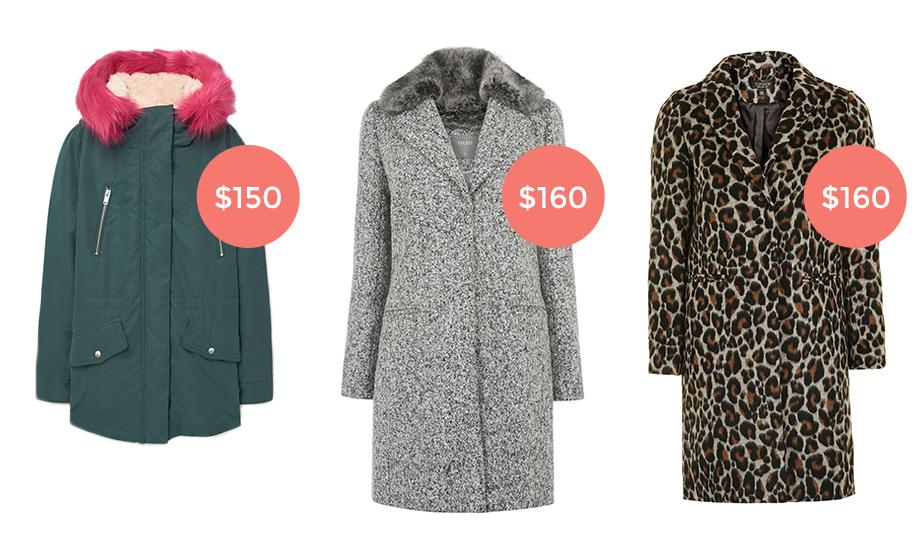 Three winter coats under $160.