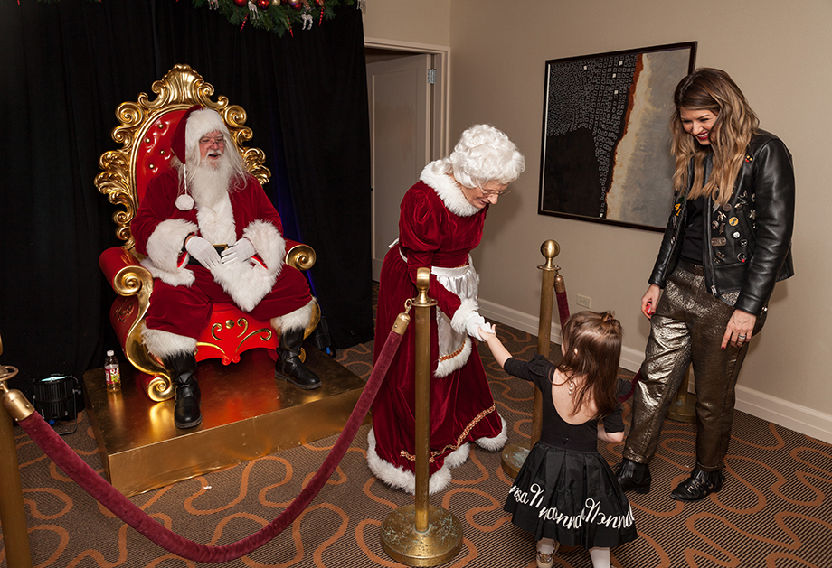 Meeting Santa at the Swissotel in Chicago.