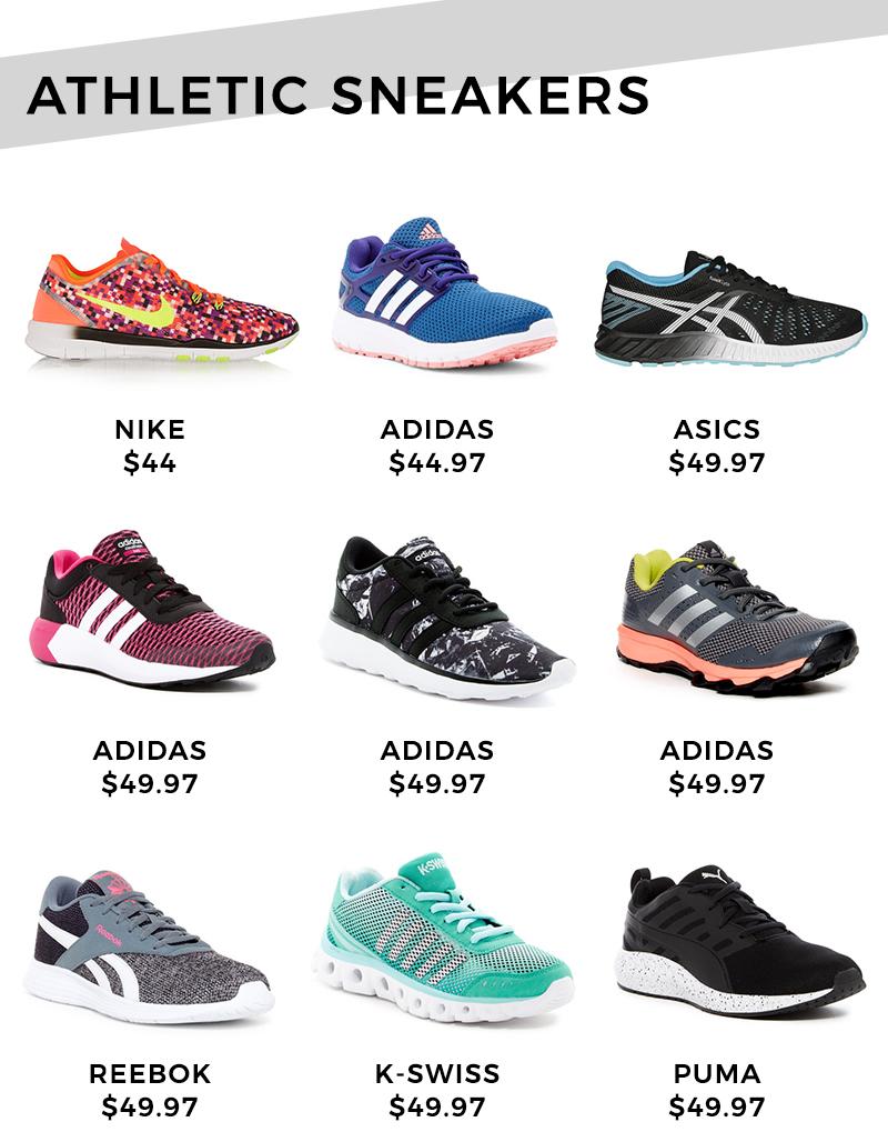 Athletic sneakers under $50.