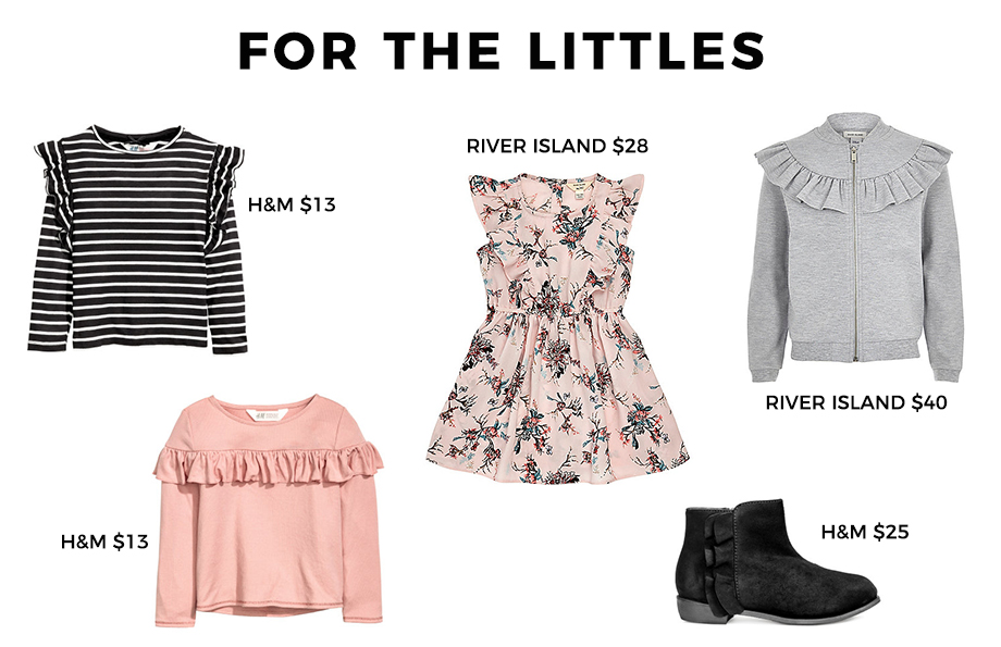 How to wear ruffles for children.