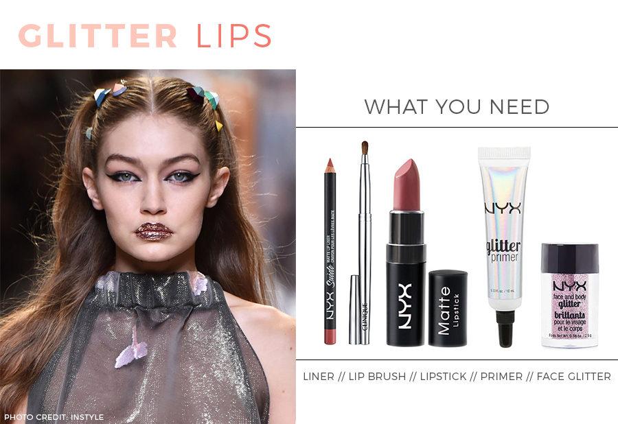 Beauty tutorial: How to apply glitter lips.
