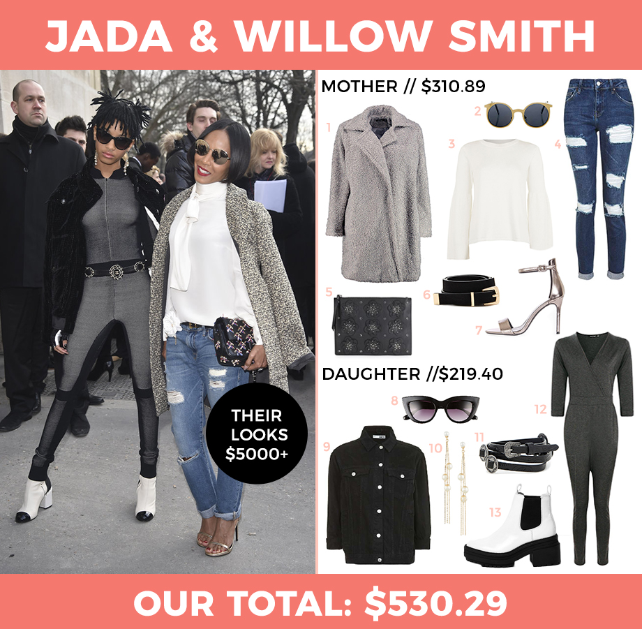 How to dress like Jada Pinket Smith and Willow Smith.