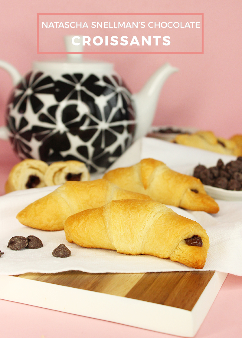 An easy recipe for warm chocolate croissants.