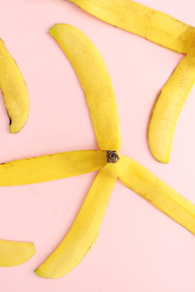 Banana peels from easy 3-step snacks.