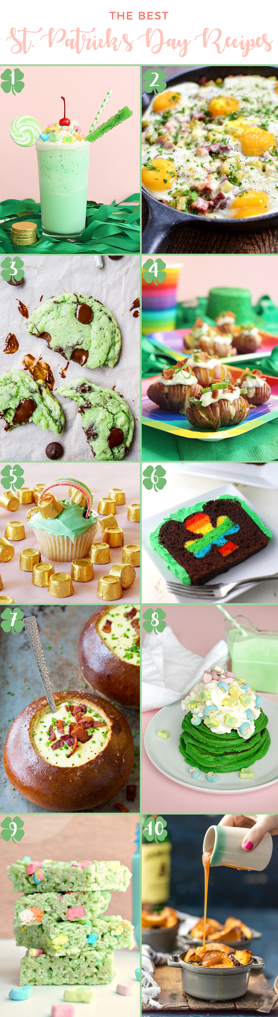 Kid-friendly St. Patrick's Day recipes for March.