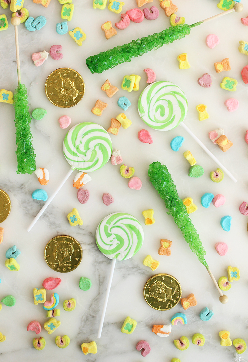 Candy for a homemade shamrock shake.