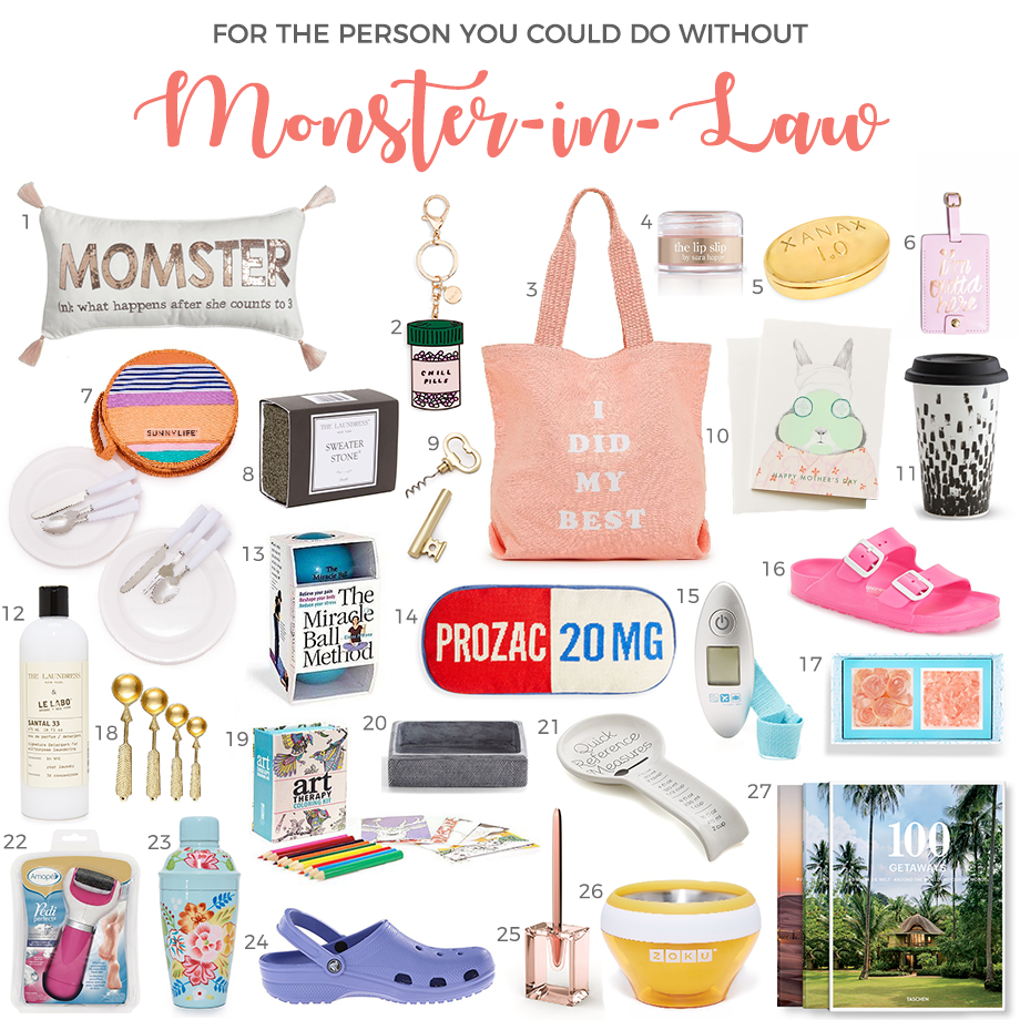 A Monster-in-Law gift guide for Mother's Day.
