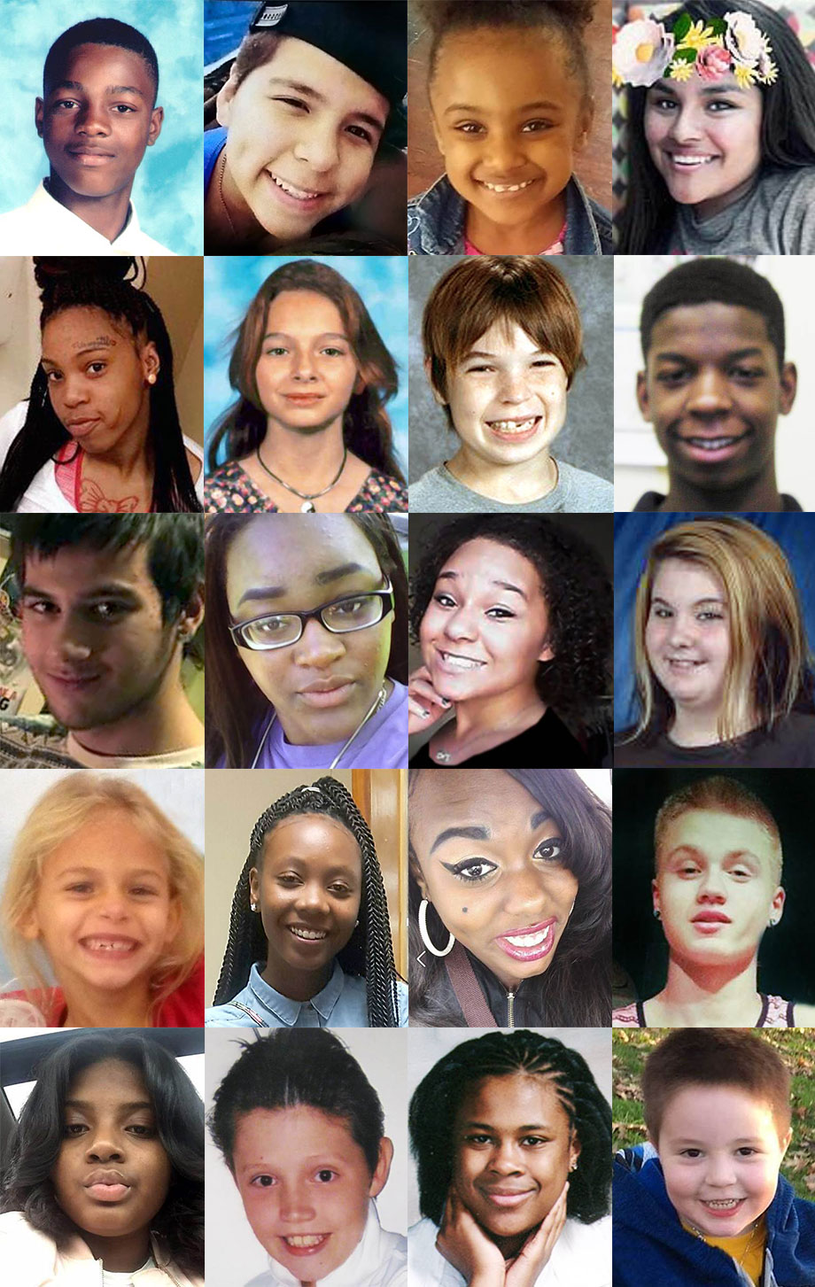 Missing children in the United States.