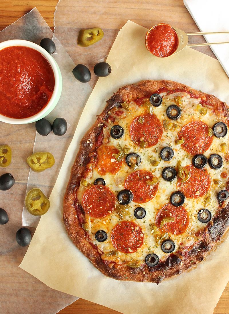 Fathead pizza recipe for a keto diet.