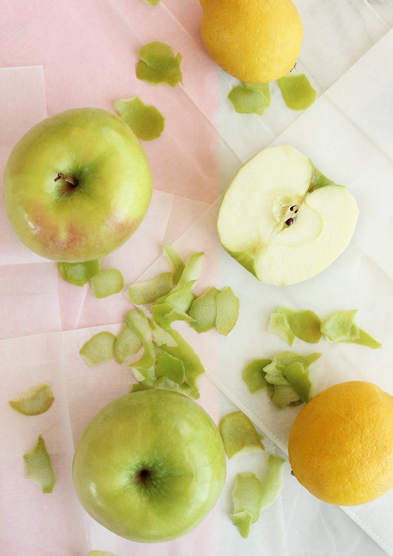 Sliced Apples for French Apple Tart.