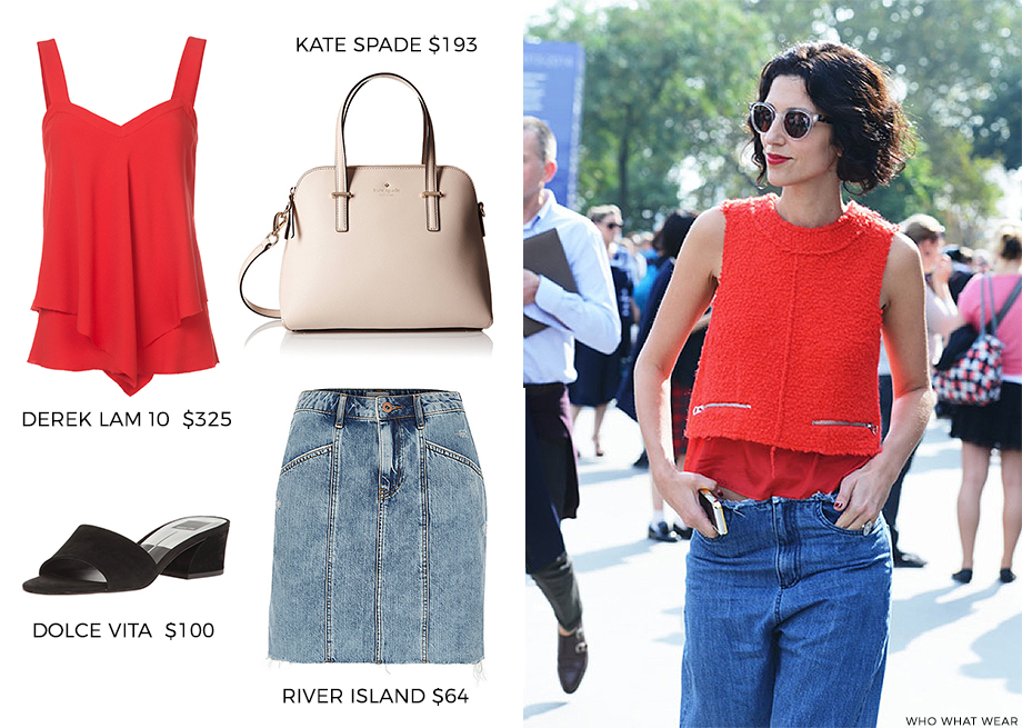 How to Wear red for summer and fall.