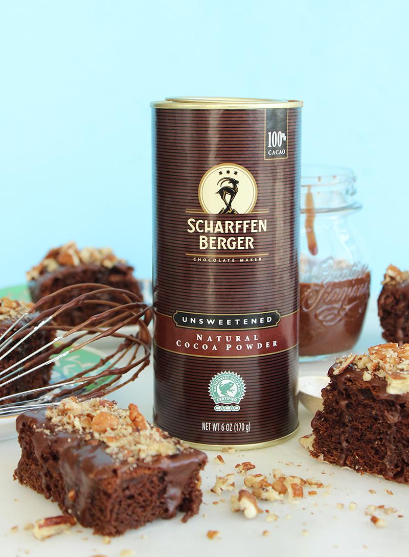 Scharffen Berger Unsweetened Cocoa Powder.